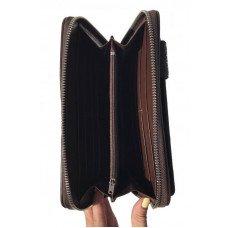 Клатч мужской из кожи крокодила коричневый BCM 022 Brown