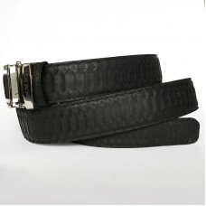 Ремінь зі шкіри пітона чорний 105 PTB Belly Black