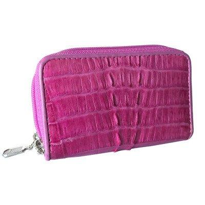 Ключниця зі шкіри крокодила рожева ZCM 08 T Violet , фото