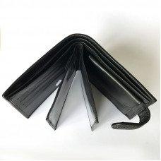 Портмоне мужское из кожи ската черное ST 92/2 Black