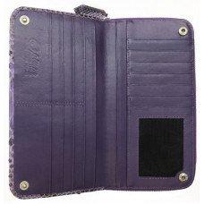 Кошелек женский из кожи питона фиолетовый PT 050 Violet