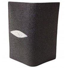 Купюрник зі шкіри ската чорний ST 274 Black