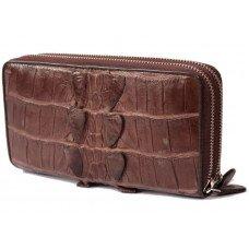 Гаманець зі шкіри крокодила коричневий ZAM 15 T Brown
