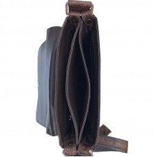 Сумка мужская из кожи крокодила коричневая DCM 1608 Brown