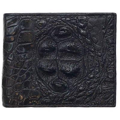 Гаманець чоловічий зі шкіри крокодила чорний ALM 03 BH Black , фото