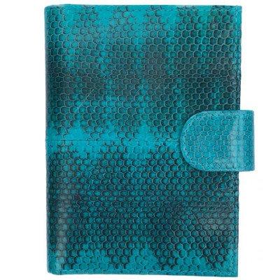 Кошелек из кожи морской змеи синий PCSS 03 Turquoise , фото