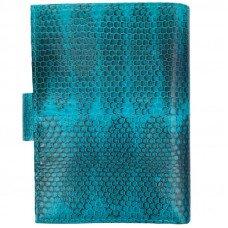 Кошелек из кожи морской змеи синий PCSS 03 Turquoise