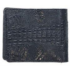 Кошелек мужской из кожи крокодила черный ALM 04 SK Black