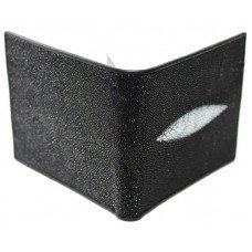Портмоне чоловіче зі шкіри ската чорне ST 358 Black