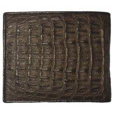 Портмоне мужское из кожи крокодила коричневое ALM 03 SK Brown