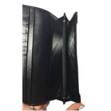 Кошелек женский из кожи ската черный ST 54 B Black