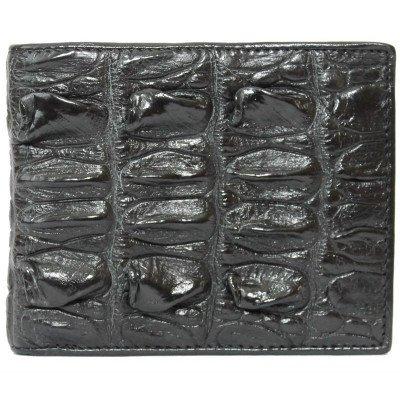 Портмоне мужское из кожи крокодила черное ALM 03 BT Black , фото