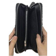 Кошелек из кожи питона черный PTWI 11 EX Black Premium