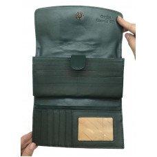 Гаманець жіночий зі шкіри крокодила зелений PCM 03 BT Green