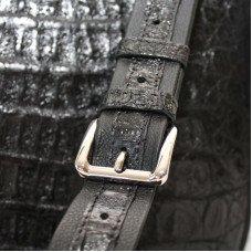 Сумка мужская из кожи крокодила черная MZCM 20 H Black