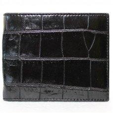 Кошелек мужской из кожи крокодила черный ALM 03 B Black