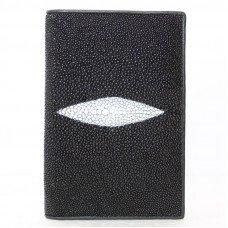Обложка для паспорта из кожи ската черная STPH 01 Black