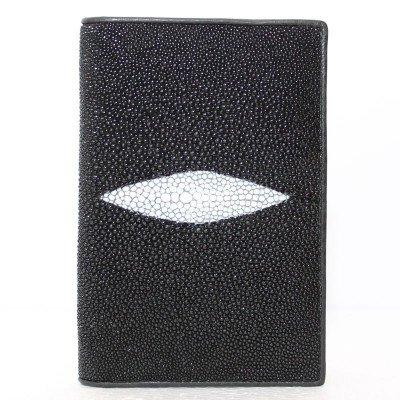 Обложка для паспорта из кожи ската черная STPH 01 Black , фото