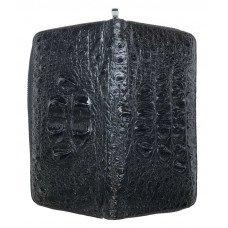 Гаманець зі шкіри крокодила чорний ZAM 11 EX BH Black