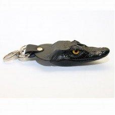 Брелок из кожи крокодила черный ALH 01 Black