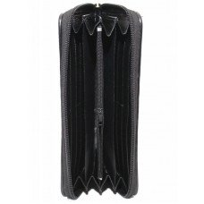 Гаманець унісекс зі шкіри ската чорний ST 11 Black