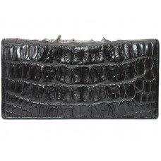 Купюрник из кожи крокодила черный CL 24 Black