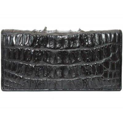 Купюрник из кожи крокодила черный CL 24 Black , фото