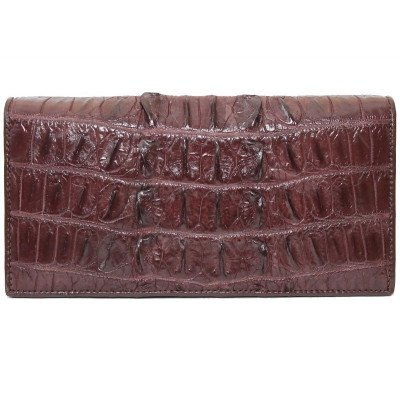 Купюрник из кожи крокодила коричневый CL 24 Brown , фото