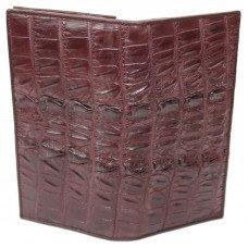 Купюрник из кожи крокодила коричневый CL 24 Brown