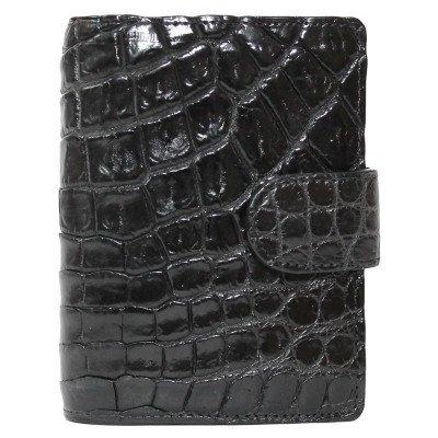 Визитница из кожи крокодила черная SS 36-1 B Black , фото