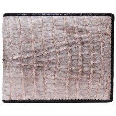 Гаманець чоловічий зі шкіри крокодила білий ALM 03 T Natural