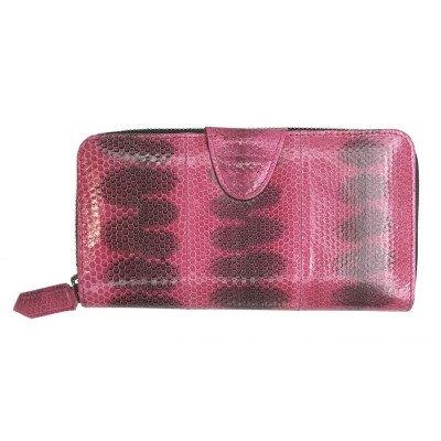 Гаманець жіночий зі шкіри морської змії рожевий SN 11-3 Pink , фото