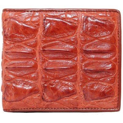 Портмоне мужское из кожи крокодила коричневое ALM 04 BT Tan , фото