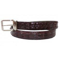 Ремінь чоловічий зі шкіри крокодила коричневий 105 ALB-CL 2R Brown