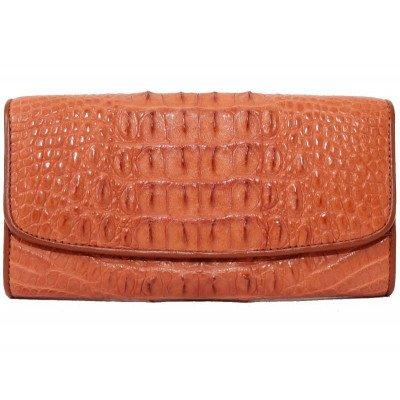 Гаманець жіночий зі шкіри крокодила коричневий PCM 03 CB Tan , фото