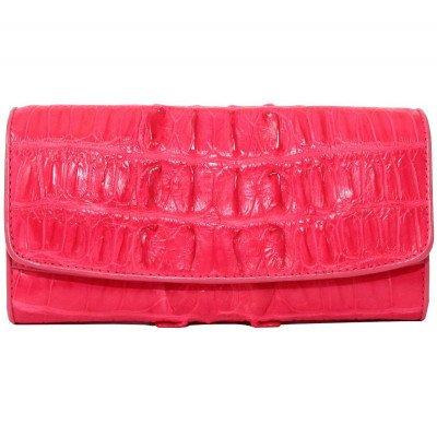 Кошелек женский из кожи крокодила красный PCM 03 BT Pink , фото