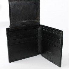 Гаманець чоловічий зі шкіри ската чорний ST 07/2 Black