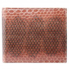 Портмоне мужское из кожи морской змеи коричневое SN 22 Tan
