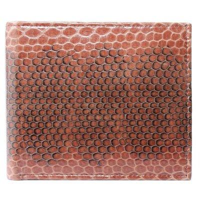 Портмоне мужское из кожи морской змеи коричневое SN 22 Tan , фото