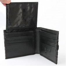Портмоне мужское из кожи питона черное PT 03B Black
