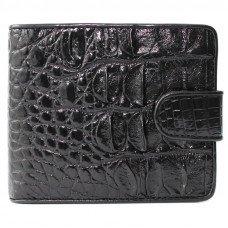 Кошелек мужской из кожи крокодила черный ALM 97 Black