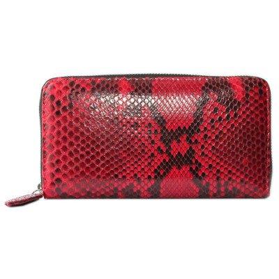 Кошелек женский из кожи питона красный PT 11 EX Red