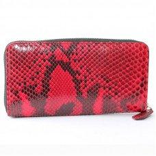 Гаманець жіночий зі шкіри пітона червоний PT 11 EX Red