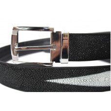 Ремень мужской из кожи ската черный 105 STB-CL Black