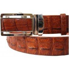 Ремень мужской из кожи крокодила коричневый 105 ALB-B Tan