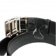 Ремень мужской из кожи ската черный 105 STB RS Black