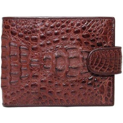 Гаманець чоловічий зі шкіри крокодила коричневий ALM 100H Brown