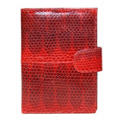 Кошелек из кожи морской змеи красный SN 9001 Fire red , фото