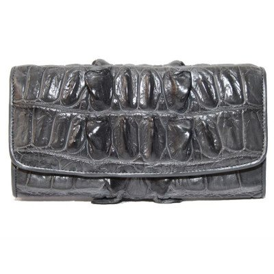 Гаманець жіночий зі шкіри крокодила сірий PCM 03 BT Grey