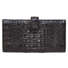 Купюрник из кожи крокодила черный CL 32 Black